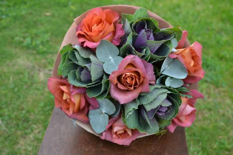 Букет из роз Крфе_Брейк и брасики