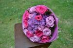 Букет с гортензией_ розами Лолита Лемпика и розами Лейла