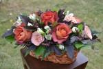 Композиция с розами  КофеБрейк и Капучино_4500 руб